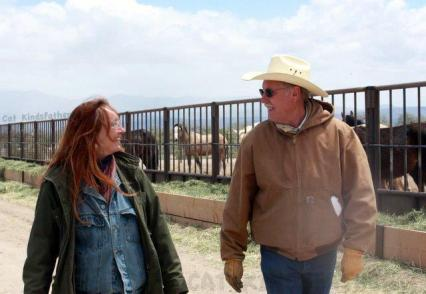 "Photo of Laura and Dean Bolstad at Broken Arrow facility before BLM shut the doors in part to protect their ""image"" photo by Cat Kindsfather"
