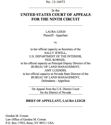 Cover of the brief filed today