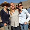 Director Melissa Jo Peltier, Laura Leigh and Producer Christina Lublin