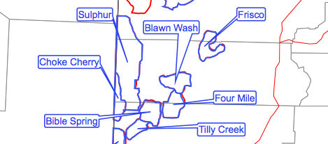 Map of Iron County HMA's