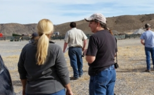 At the holding pens during the Fish Creek operation